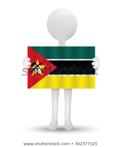 small 3d man holding a Portuguese Flag Stock photo © Istanbul2009