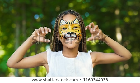 Creative face paint Stock photo © Nejron