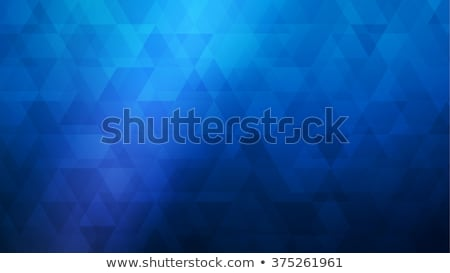 синий треугольник вектора аннотация шаблон дизайна Сток-фото © vlastas
