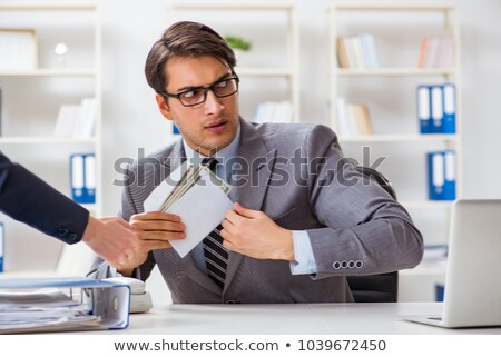 Businessman offering banknote Stock photo © w20er