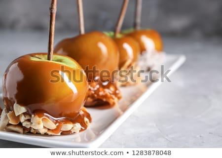 Karmel jabłka żywności strony owoców candy Zdjęcia stock © M-studio