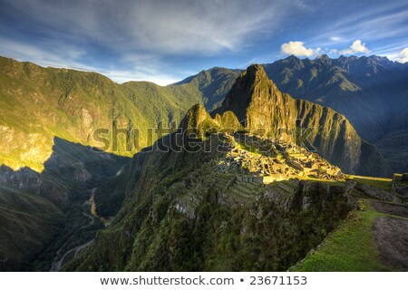 Мачу-Пикчу рассвета древних скрытый город Перу Сток-фото © Hofmeester