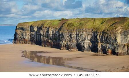 tourists walking on Ballybunion beach Stock photo © morrbyte