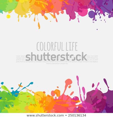 Cadre couleur enfants résumé peinture fond Photo stock © gladiolus
