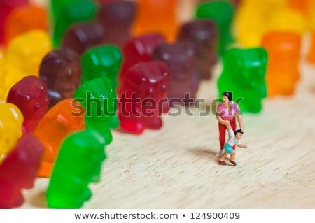 Medve invázió egészségtelen étel egészség anya piros Stock fotó © Kirill_M