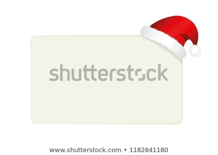 ストックフォト: サンタクロース · 帽子 · スクロール · クリスマス · 招待 · 実例