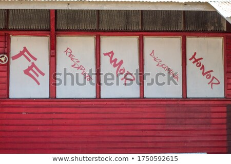 Discipline on Red Road Sign. Stock photo © tashatuvango