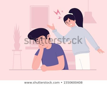 cartoon woman arguing Stock photo © lineartestpilot