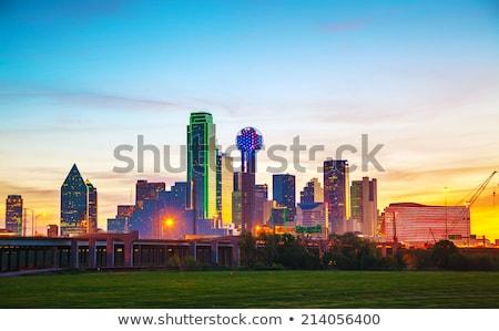 Centro de la ciudad Dallas noche ciudad luces rascacielos Foto stock © AndreyKr