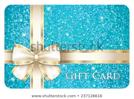 Turquoise shiny gift card composed from glitters Stock photo © liliwhite