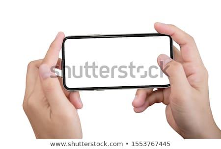 Foto's mobiele vrouw momentopname Stockfoto © stevanovicigor
