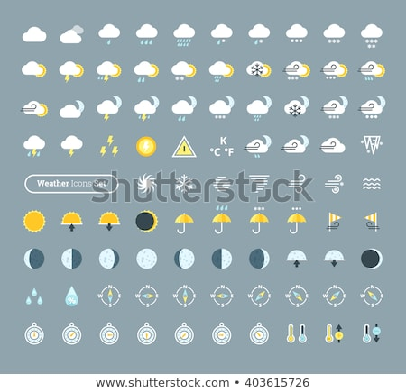 Weather symbols pack Stock photo © morrmota