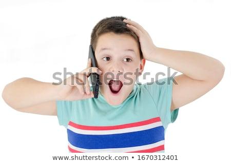 meglepett · meglepődött · gyermek · fiú · gesztikulál · pont - stock fotó © ia_64