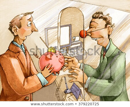 Man getting interests from his savings Stock photo © carbouval