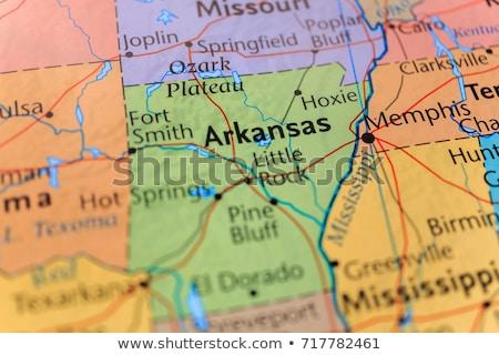 Térkép Arkansas utazás fekete Amerika USA Stock fotó © rbiedermann