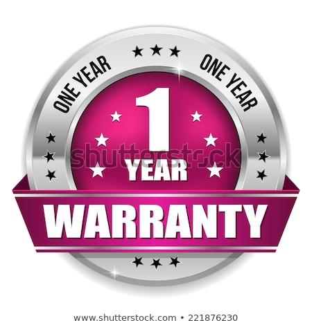 1 year warranty purple vector icon design stock photo © rizwanali3d
