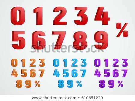 9 Number Vector Purple Web Icon Stock photo © rizwanali3d