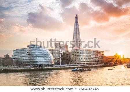 Londres · horizonte · panorama · noche · Inglaterra · río - foto stock © fesus