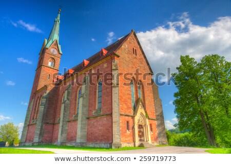 Kerk hdr afbeelding Tsjechische Republiek architectuur Europa Stockfoto © CaptureLight