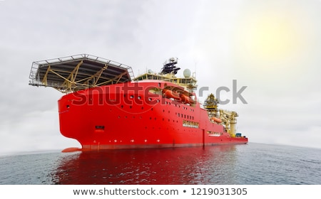 Dynamically positioned diving support vessel  Stock photo © look67