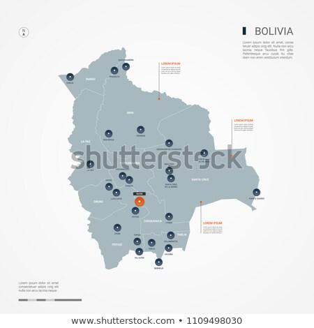 Narancs gomb kép térképek Bolívia űrlap Stock fotó © mayboro