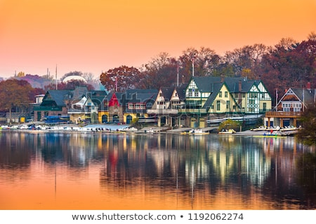 Waterfront Boat Houses Stock photo © rghenry