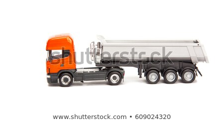 truck isolated over white Stock photo © carloscastilla