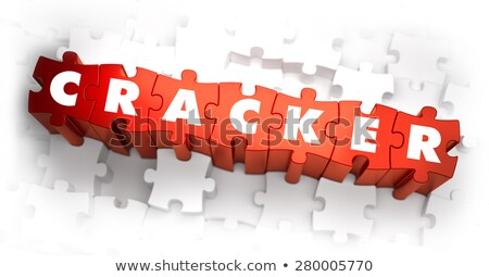 Cracker - White Word on Red Puzzles. Stock photo © tashatuvango
