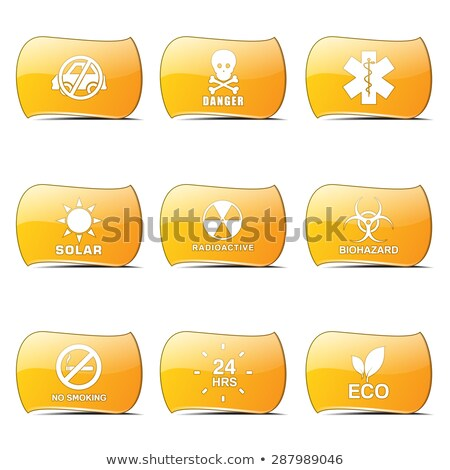 Warning Sign Yellow Vector ButtonIcon Design Set Stock photo © rizwanali3d