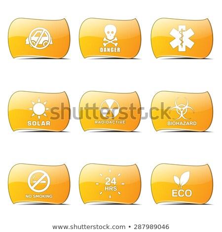 warning sign yellow vector buttonicon design set stock photo © rizwanali3d