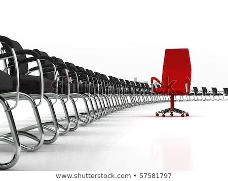 Red Leader Chair With Large Group Of Black Chairs Photo stock © AptTone