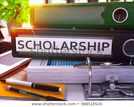 Scholarship on Office Folder. Toned Image. Stock photo © tashatuvango