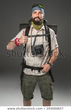 портрет · улыбаясь · мужчины · туристических · рюкзак · камеры - Сток-фото © master1305