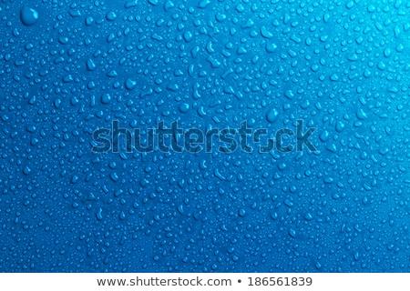 Waterdruppels Blauw water abstract licht venster Stockfoto © tetkoren
