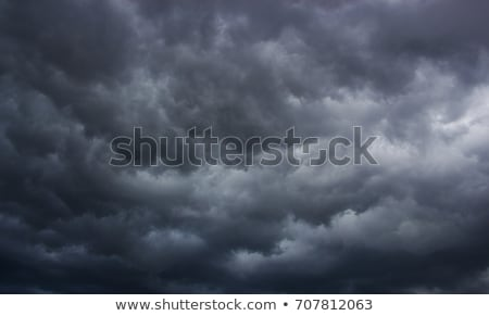 Nubes de tormenta múltiple capas siniestro cielo nubes Foto stock © soupstock