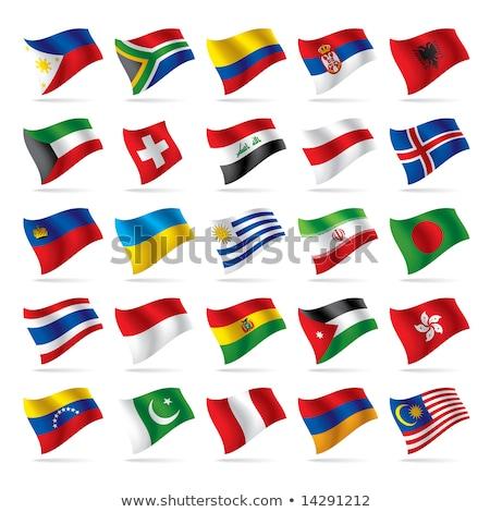 Foto stock: Suíça · Jordânia · bandeiras · quebra-cabeça · isolado · branco