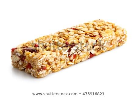 granola · bar · yalıtılmış · beyaz · dar · gıda - stok fotoğraf © feverpitch