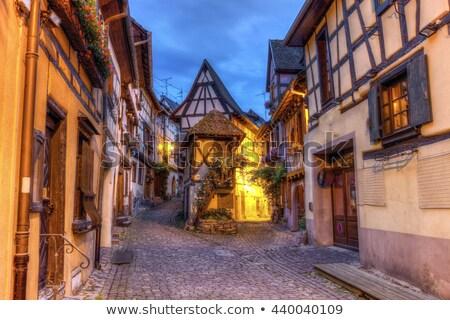 straat · Frankrijk · pittoreske · historisch · bloem · wijn - stockfoto © prill