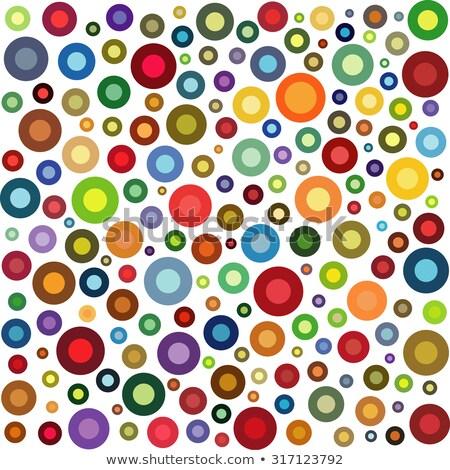Círculo forma coleção múltiplo cor branco Foto stock © Melvin07