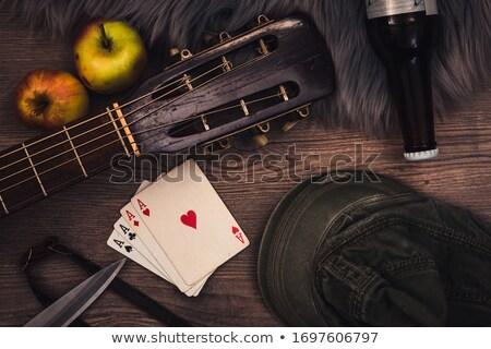 гитаре туз играет карт используемый Сток-фото © Bigalbaloo
