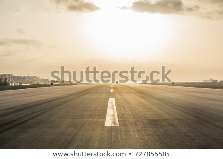 Empty airport road Stock photo © d13