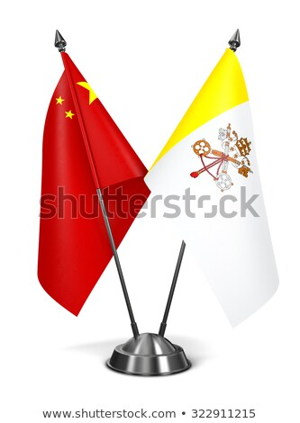 China and Vatican City - Miniature Flags. Stock photo © tashatuvango