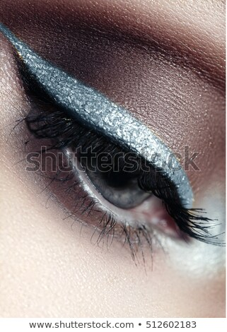 Artistic Eyes with golden and silver eyebrows Stock photo © shawlinmohd