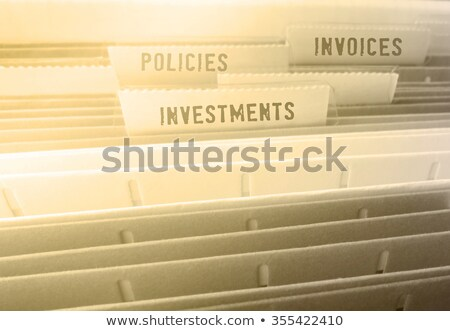 File Folder Labeled as Agreements. Stock photo © tashatuvango