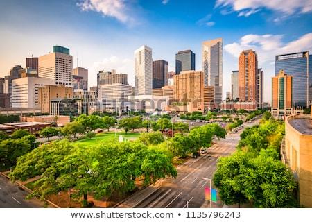 Houston şehir merkezinde şehir kentsel binalar gökdelen Stok fotoğraf © lunamarina