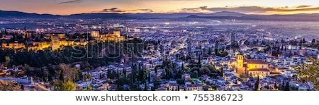 パノラマ · 表示 · 市 · スペイン · 高い - ストックフォト © backyardproductions