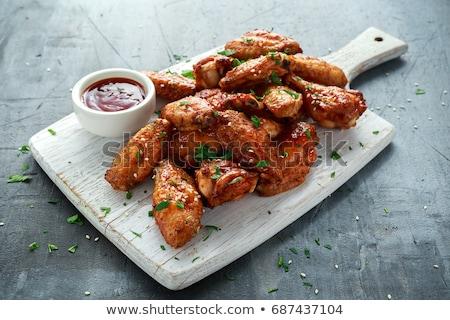 Roast chicken wings Stock photo © Digifoodstock
