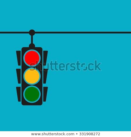 Trafik ışıkları imzalamak stilize trafik şehir sokak Stok fotoğraf © tracer