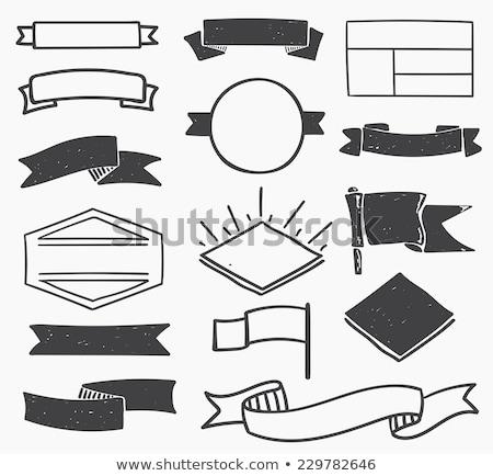 szett · számítógép · ikonok · kockás · papír · vektor · számítógép - stock fotó © pakete