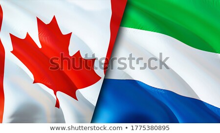 canada and sierra leone flags stock photo © istanbul2009
